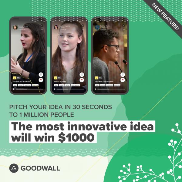 good idea award and $1000 prize