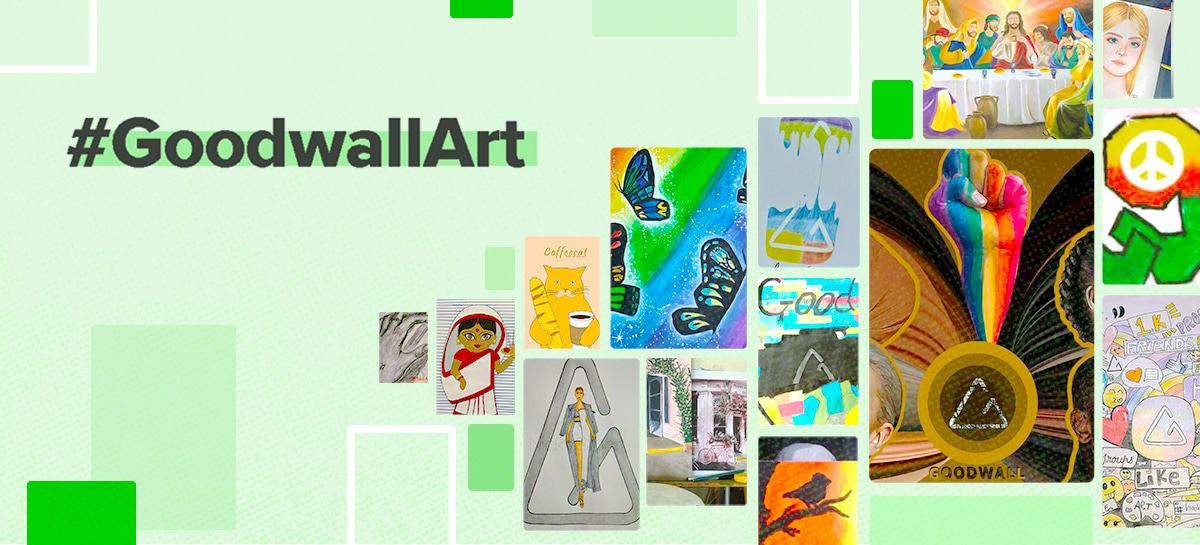 GoodwallArtChallenge announcement and winner